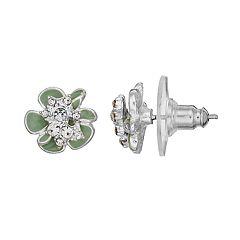 LC Lauren Conrad Mint Green Nickel Free Flower Stud Earrings