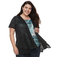 Plus Size World Unity Lace Fly Away Top