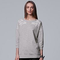 Women's Simply Vera Vera Wang Floral Embroidered Sweatshirt