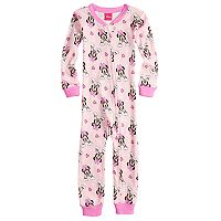 Disney's Minnie Mouse Toddler Girl Rainbow Footless Pajamas