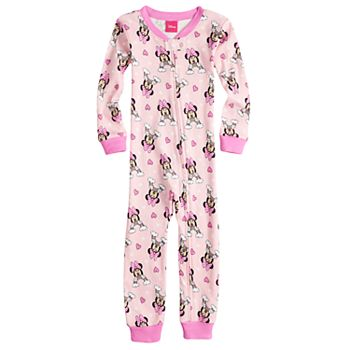 8f6d1ab02e21 Disney s Minnie Mouse Toddler Girl Rainbow Footless Pajamas