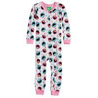 Toddler Girl Sesame Street Elmo & Cookie Monster Footless Pajamas