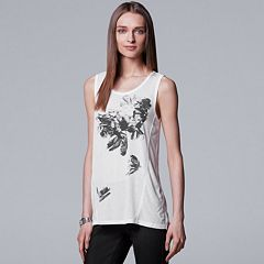 Women's Simply Vera Vera Wang Floral Graphic Tank