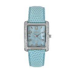 Peugeot Women's Crystal Leather Watch - 3009BL