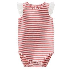 Baby Girl OshKosh B'gosh® Striped Eyelet Bodysuit