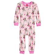Disney's Minnie Mouse Baby Girl Rainbow Footless Pajamas