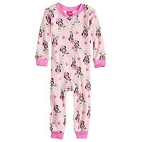 Disney's Minnie Mouse Baby Girl Rainbow Footless Pajamas
