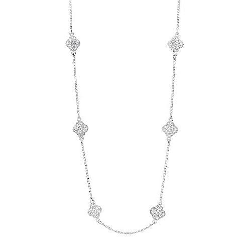 LC Lauren Conrad Long Filigree Station Necklace