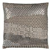 Rizzy Home Doh Geometric Disco Sequin Throw Pillow