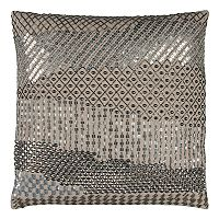 Rizzy Home Doh Geometric Disco Sequin Throw Pillow
