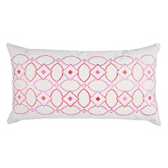 Rizzy Home Doh Geometric Oblong Throw Pillow