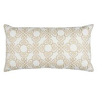 Rizzy Home Doh Floral Scroll I Oblong Throw Pillow