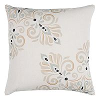 Rizzy Home Doh Floral Damask Throw Pillow