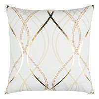 Rizzy Home Doh Geometric Lines Throw Pillow