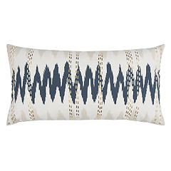 Rizzy Home Doh Abstract Lines Oblong Throw Pillow
