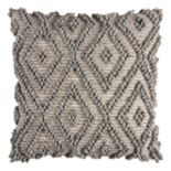 Rizzy Home Textured Diamond Geometric Throw Pillow