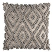 Rizzy Home Textured Diamond Geometric Throw Pillow
