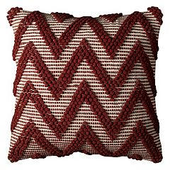 Rizzy Home Chevron Textured Throw Pillow