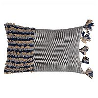 Rizzy Home Color Block Tassels Throw Pillow