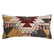 Rizzy Home Southwestern Motif Tassels Throw Pillow