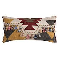 Rizzy Home Southwestern Motif Tassels Throw Pillow