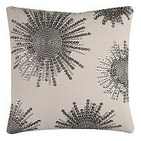 Rizzy Home Starburst Beaded Textured Throw Pillow
