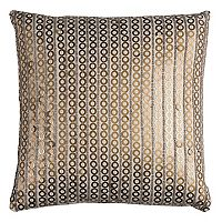 Rizzy Home Striped Metal Discs Throw Pillow