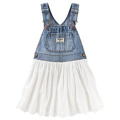 Baby Girl OshKosh B'gosh® Eyelet & Denim Jumper