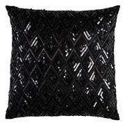 Rizzy Home Diamond Textured Sequins Throw Pillow