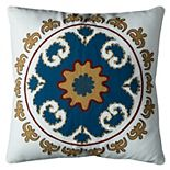 Rizzy Home Bold Medallion Pattern Throw Pillow