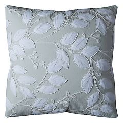 Rizzy Home Botanical Leaf Applique Throw Pillow