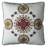 Rizzy Home Medallion Floral Throw Pillow