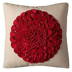 Rizzy Home Bold Floral Textured Throw Pillow