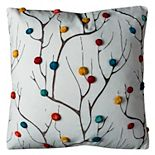 Rizzy Home Abstract Dimensional Tree Throw Pillow