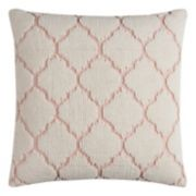 Rizzy Home Textured Trellis Throw Pillow