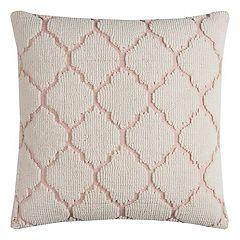 Rizzy Home Textured Trellis Throw Pillow