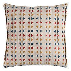 Rizzy Home Geometric Striped Throw Pillow