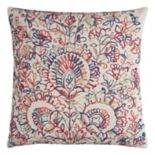 Rizzy Home Floral Medallions Textured Throw Pillow