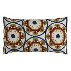 Rizzy Home Ornate Medallions Oblong Throw Pillow