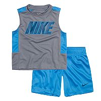 Baby Boy Nike Colorblock Tank Top & Mesh Shorts Set