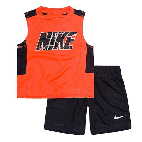 Baby Boy Nike Colorblock Tank Top & Mesh Shorts Set