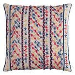 Rizzy Home Threaded Chevron Stripe Throw Pillow