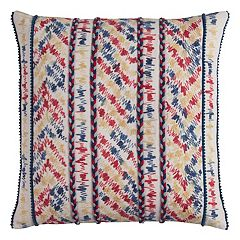 Rizzy Home Threaded Chevron Stripe Throw Pillow