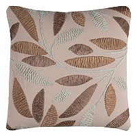 Rizzy Home Leaves Throw Pillow