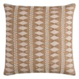 Rizzy Home Geometric Stripe Jute Accent Throw Pillow