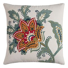 Rizzy Home Bold Floral Applique Throw Pillow