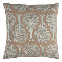 Rizzy Home Embroidered Trees Throw Pillow