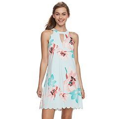 Juniors' Candie's® Scalloped Halter Swing Dress
