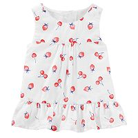 Baby Girl OshKosh B'gosh® Strawberry Ruffle Tank Top