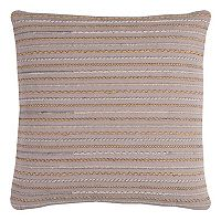 Rizzy Home Lined Textured Throw Pillow